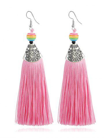 Bohemia Beaded Tassel Design Drop Earrings