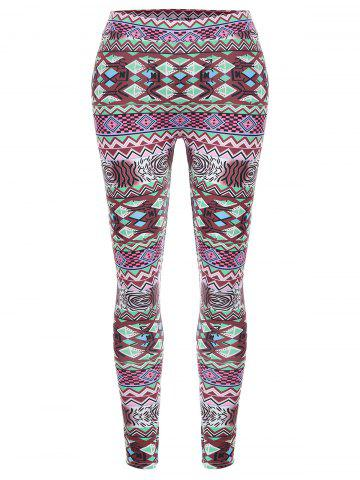 Fancy Geometric High Waisted Christmas Leggings
