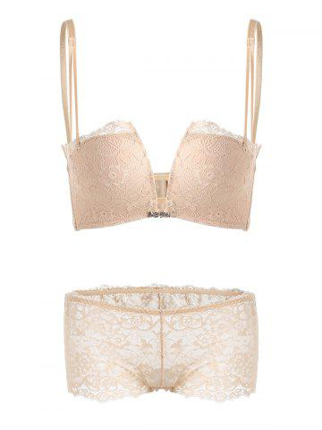 Outfit Lace Crossback Bra Set - 85A COMPLEXION Mobile