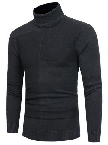Shop Panel Design Roll Neck Sweater