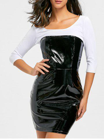 Outfit Bandeau Latex Bodycon Dress - S BLACK Mobile