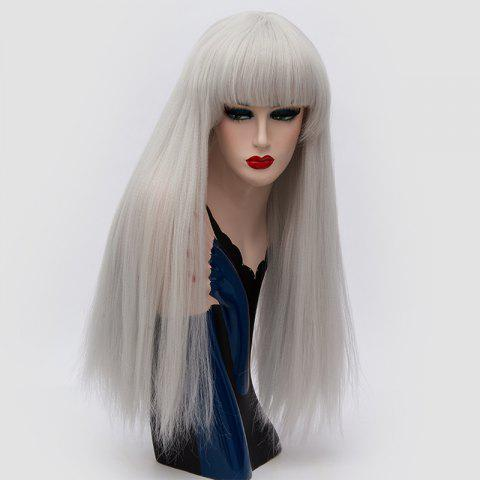 Fancy Long Full Bang Fluffy Straight Lolita Cosplay Synthetic Wig
