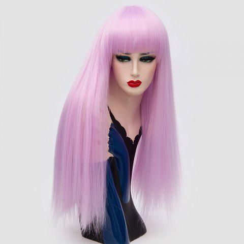 Shop Long Full Bang Fluffy Straight Lolita Cosplay Synthetic Wig