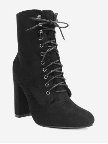 Hot Lace Up Block Heel Ankle Boots