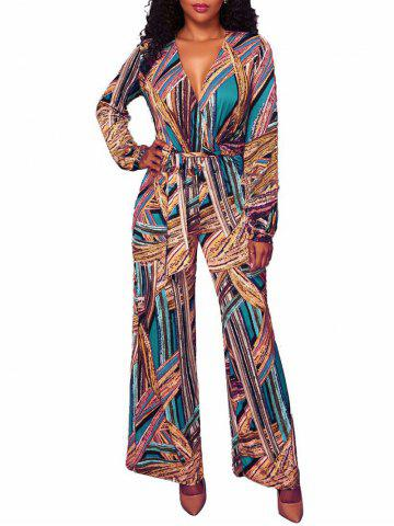 New Wide Leg Tribal Jumpsuit
