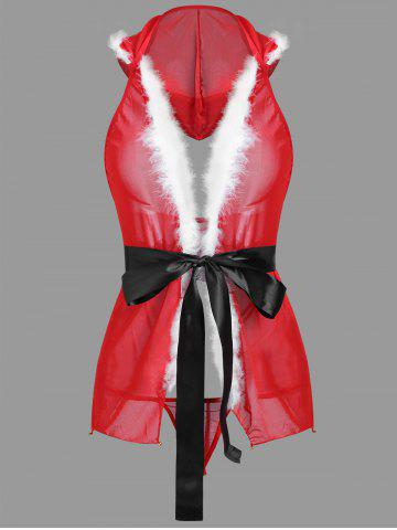 New Hooded Feather Christmas Costume