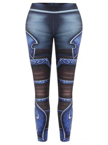 Sale Printed Skinny High Waisted Leggings COLORMIX ONE SIZE