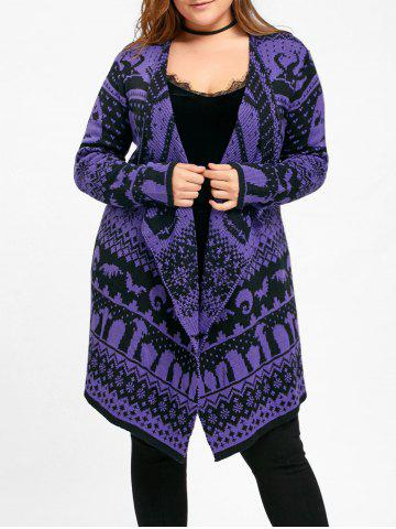 Outfit Halloween Plus Size Skull Sweater Drape Cardigan