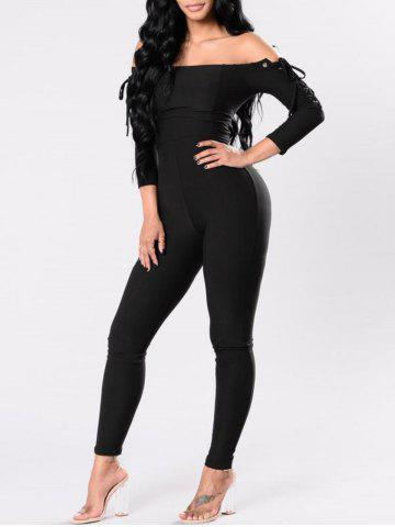 Affordable Off The Shoulder Lace Up Jumpsuit