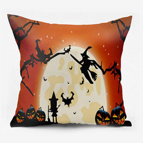 Halloween Witch Pumpkin Lamp Moon Oreiller