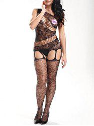 Sheer Fishnet One Shoulder Bodystockings -