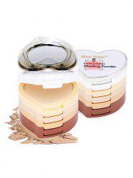 5 Colors Heart Shaped Layered Concealing Shading Powder -
