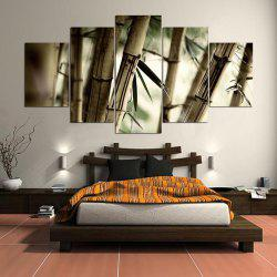 Bamboos Patterned Unframed Wall Art Canvas Paintings -