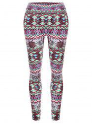 Geometric High Waisted Christmas Leggings -