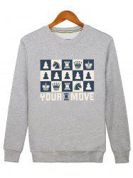 Horse Crown Print Graphic Sweatshirt -
