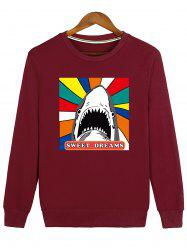Sweat-shirt Ras du Cou Imprimé Sequin Cartoon -
