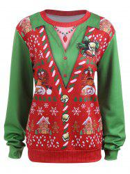Plus Size Light Up Christmas Snow Ugly Sweatshirt -
