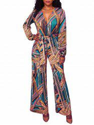 Wide Leg Tribal Jumpsuit -
