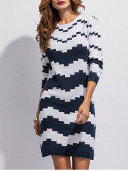 Patterned Sweater Dress - COLORMIX ONE SIZE
