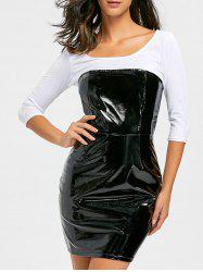 Robe Bandeau Moulante et en Latex -