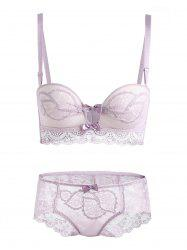 Push Up Sheer Lace Bra Set -