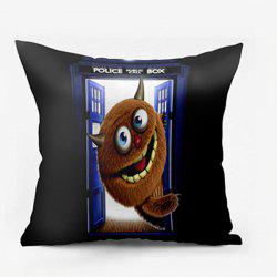 Monster Police Box Pattern Square Pillow Case -