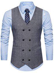 Double Breasted Belt Design Waistcoat -