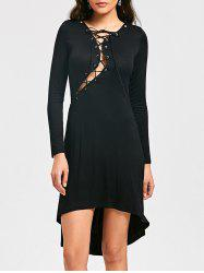 Halloween Lace Up Cocktail Dress -
