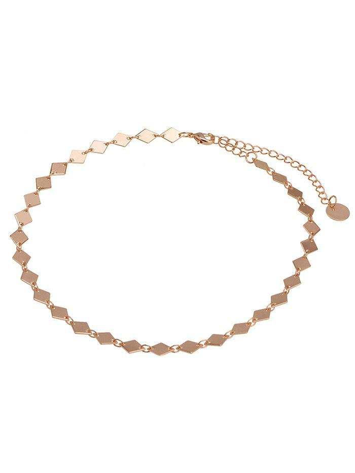 Geometric Design Round Chain Choker NecklaceJEWELRY<br><br>Color: GOLDEN; Gender: For Women; Style: Trendy; Shape/Pattern: Geometric; Length: 37cm; Weight: 0.0058kg; Package Contents: 1 x Necklace;