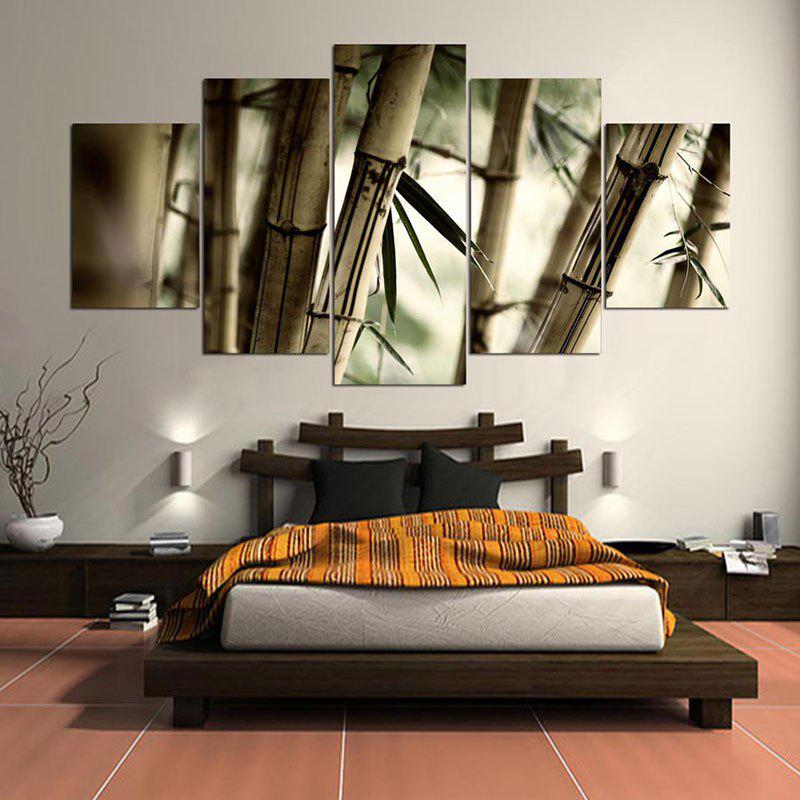 Cheap Bamboos Patterned Unframed Wall Art Canvas Paintings