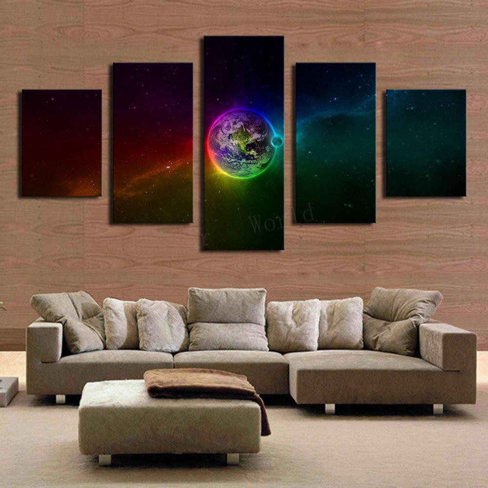 Unframed Galaxy Earth Pattern Canvas PaintingsHOME<br><br>Size: 1PC:8*20,2PCS:8*12,2PCS:8*16 INCH( NO FRAME ); Color: COLORFUL; Features: Decorative; Style: Fashion; Hang In/Stick On: Bedrooms,Living Rooms; Shape: Horizontal; Form: Five Panels; Frame: No; Package Contents: 1 x Canvas Paintings (Set);