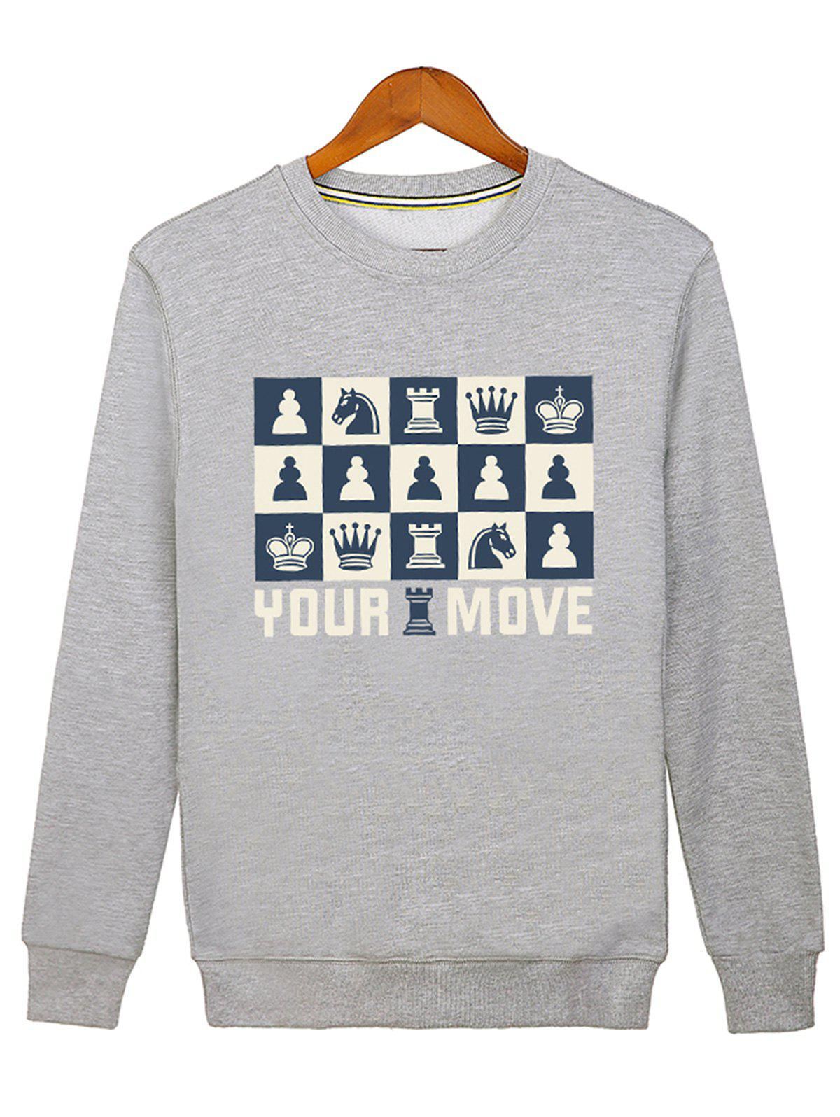 Unique Horse Crown Print Graphic Sweatshirt