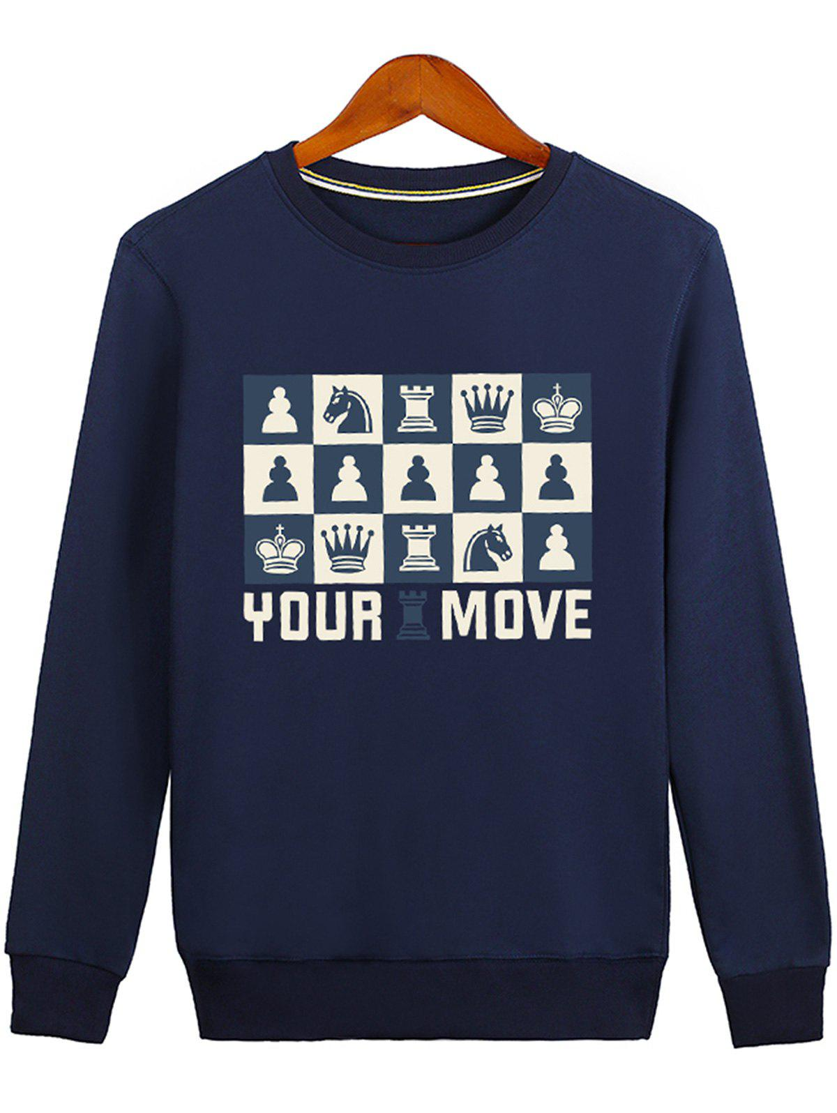 Outfit Horse Crown Print Graphic Sweatshirt
