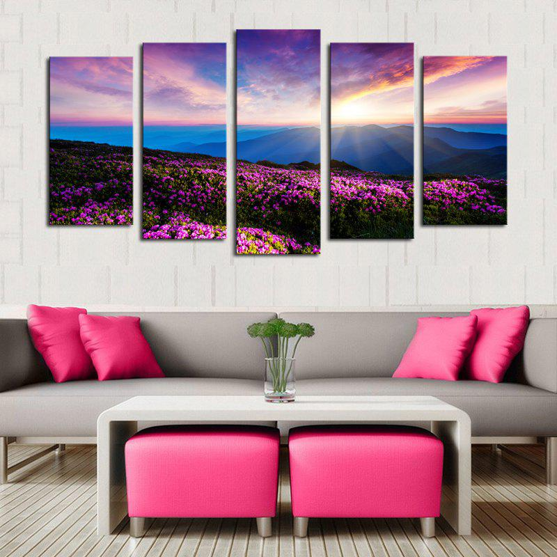 Chic Lavender Pattern Unframed Split Canvas Paintings