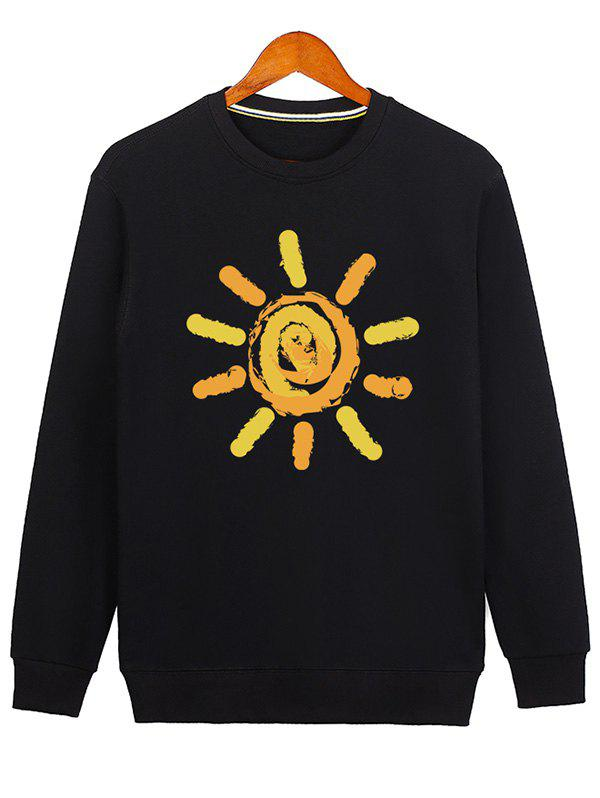 New Sun Print Crew Neck Sweatshirt