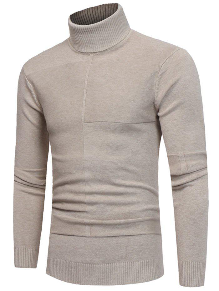 Latest Panel Design Roll Neck Sweater