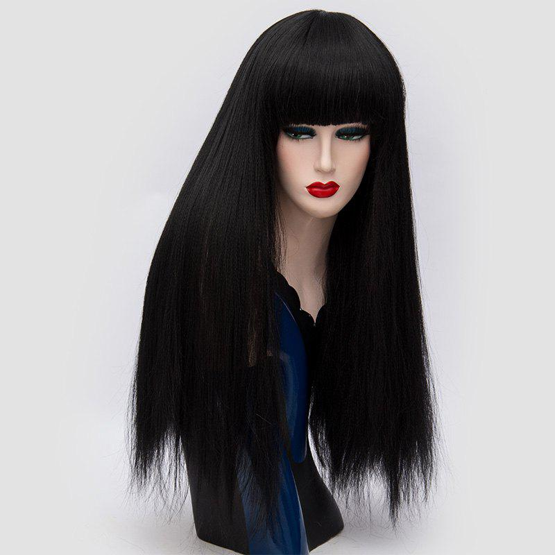 Buy Long Full Bang Fluffy Straight Lolita Cosplay Synthetic Wig