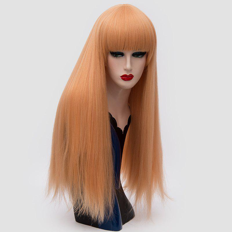 Trendy Long Full Bang Fluffy Straight Lolita Cosplay Synthetic Wig