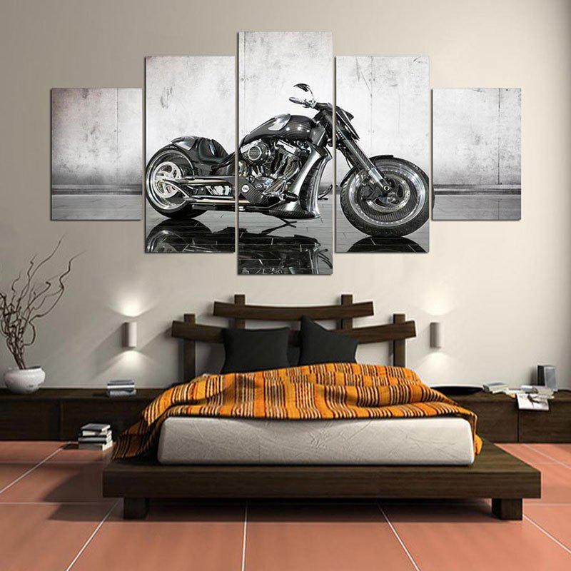 Wall Art Motor Pattern Canvas Unframed PaintingsHOME<br><br>Size: 1PC:8*20,2PCS:8*12,2PCS:8*16 INCH( NO FRAME ); Color: GRAY; Subjects: Still Life; Product Type: Art Print; Features: Decorative; Style: Fashion; Hang In/Stick On: Bedrooms,Cafes,Hotels,Living Rooms,Offices,Stair; Form: Five Panels; Frame: No; Material: Canvas; Package Contents: 1 x Canvas Paintings (Set);