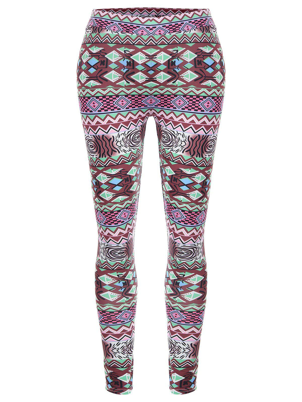 Affordable Geometric High Waisted Christmas Leggings