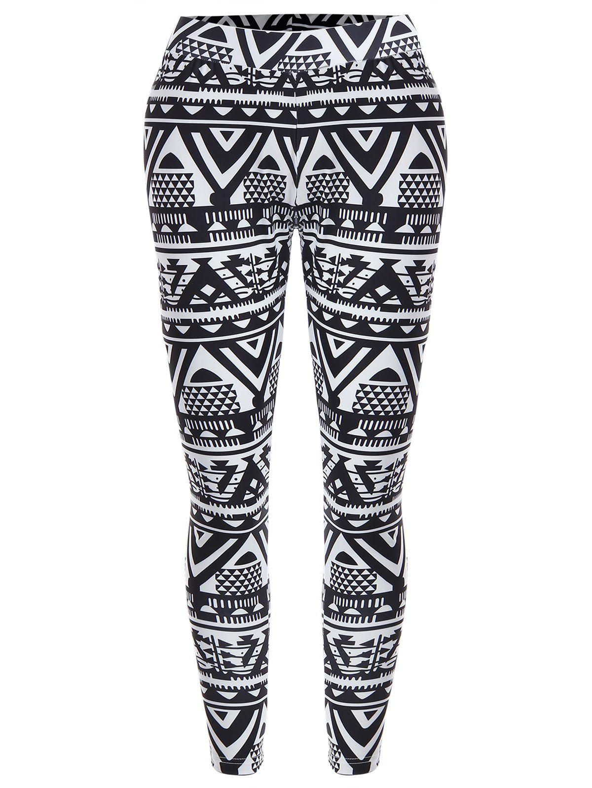 Buy Geometric Print Christmas High Waisted Leggings