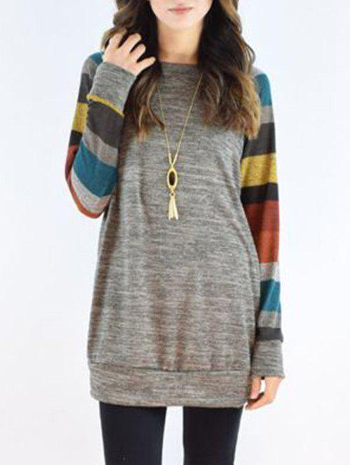 Online Striped Sleeve Casual Dress