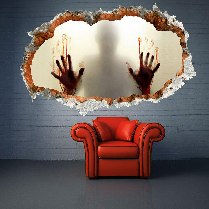 Creative 3D Halloween Zombie Waterproof Wall StickerHOME<br><br>Color: LIMEADE; Wall Sticker Type: 3D Wall Stickers; Functions: Decorative Wall Stickers; Theme: Halloween; Pattern Type: 3D; Material: PVC; Feature: Removable,Washable; Size(L*W)(CM): 93*56; Weight: 0.3900kg; Package Contents: 1 x Wall Sticker;