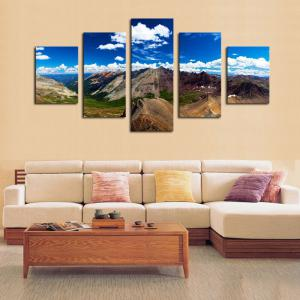 Mountains Pattern Unframed Canvas Paintings -