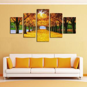 Unframed Maple Trees Printed Canvas Split Paintings -