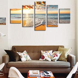 Unframed Sea Beach Pattern Canvas Paintings -