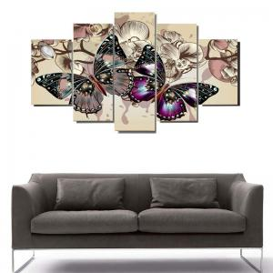 Colorful Butterflies Pattern Decoration Canvas Paintings -
