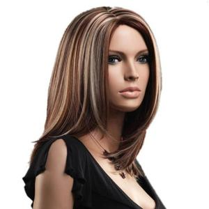 Perle de synthèse intégrale sans cordon de Center Parting Medium -