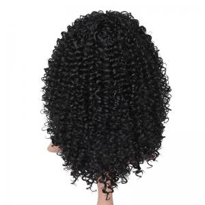 Medium See-through Bang Fluffy Afro Curly Synthetic Wig -