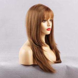 Long See-through Fringe Layered Straight Synthetic Wig -